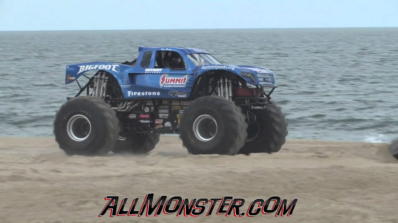 Foot Monster Truck Freestyle Monsters On The Beach 2017 Sunday You