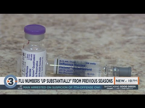 Schools, hospitals fight to stop the spread with flu numbers 'up substantially' from previous
