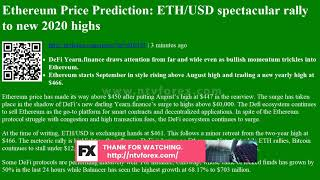 Ethereum Price Prediction: ETH/USD spectacular rally to new 2020 highs