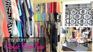 My Closet Room Tour (converted Room Into A Walk-in Closet)  #mfscloset