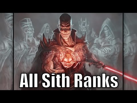 All Sith Ranks and Titles