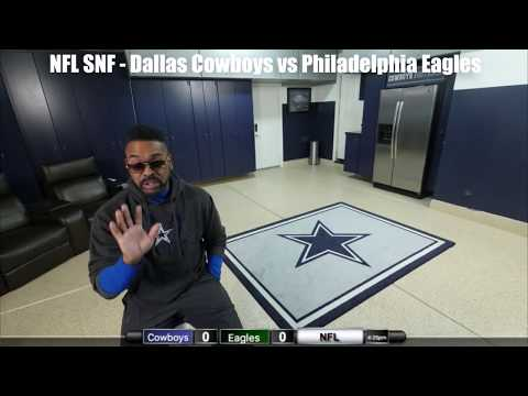 Watching the Cowboys take on the Eagles on SNF