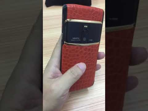 Vertu signature touch custom made leather