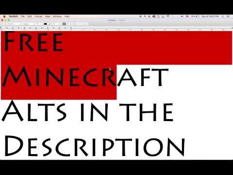 free minecraft alts list 2017