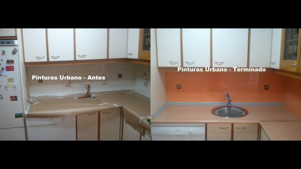 Pintado de azulejos de cocina antes despues youtube - Pintura para pintar azulejos ...
