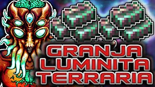 GRANJA DE LUMINITA [MOON LORD] LUMINITE FARM COMO MATAR AL MOON LORD FACIL TERRARIA EXP ...