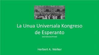 La Unua Universala Kongreso de Esperanto