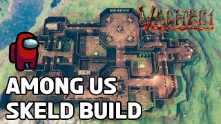 Looks kinda sus... (Valheim Build - Skeld)
