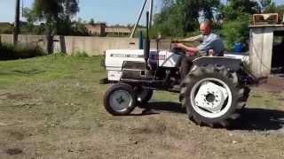 Японский мини трактор MITSUBISHI KUMIAI ST 2620 для сельхоз работ.