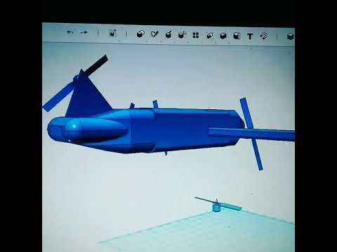 3d Drone model in auto-desk .