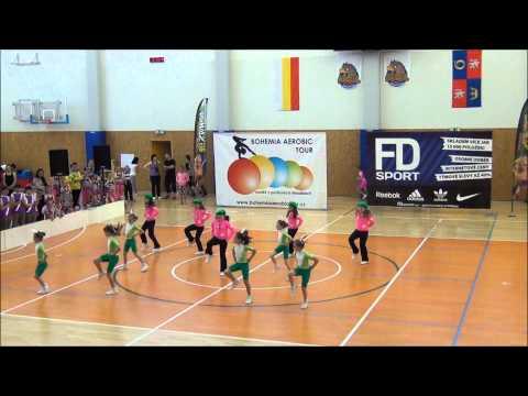 Aerobic Fit Club Holice, dívky 7-8 let, Hradec Králové 3.5. 2015