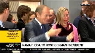 President Ramaphosa to host German president
