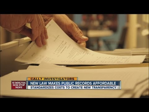 New law makes public records affordable