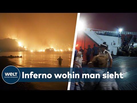 FLUCHT VOR DEM INFERNO: Athen, Türkei! Tausende Rettungskräfte im Dauereinsatz - Flammen überall