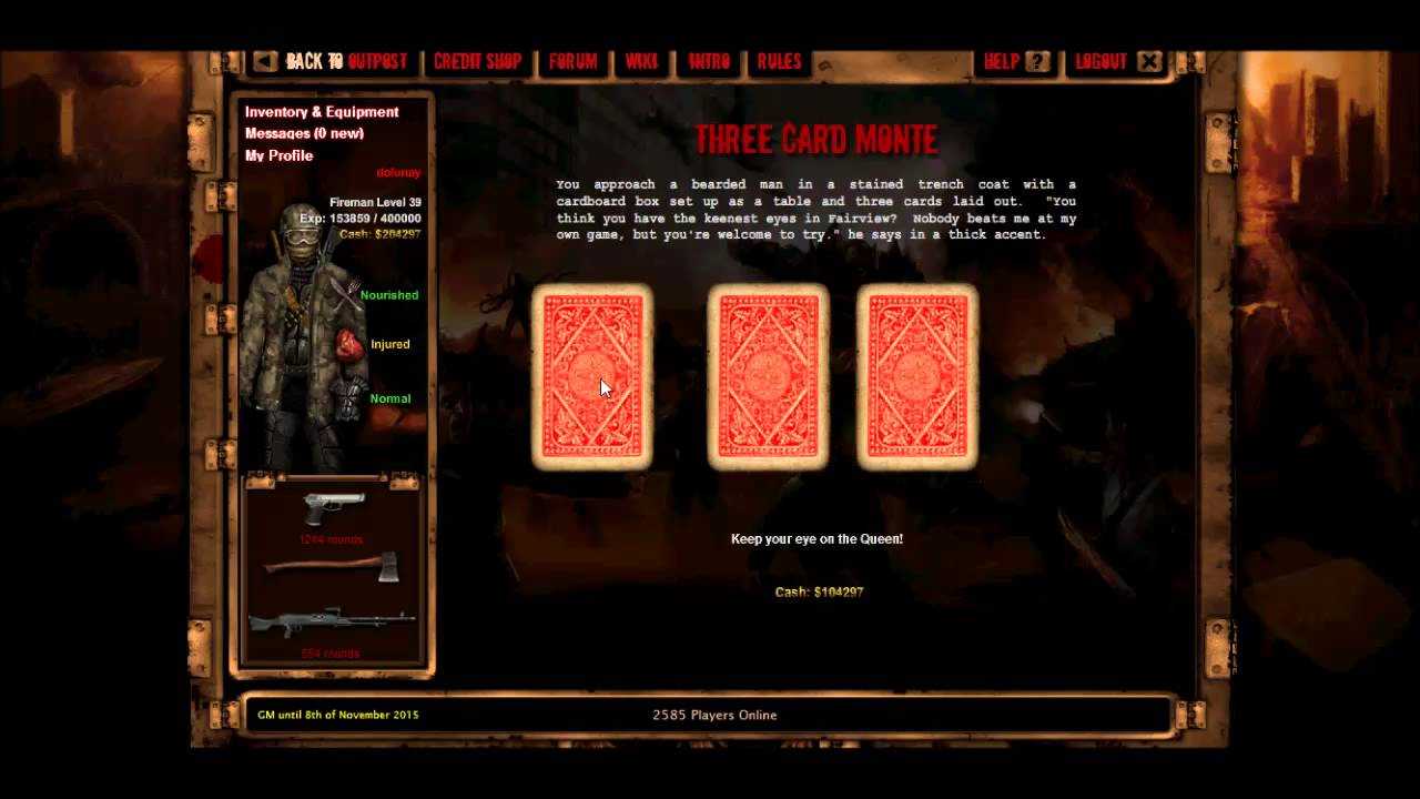 How to always win at gambling in dead frontier gambling 3nt defence