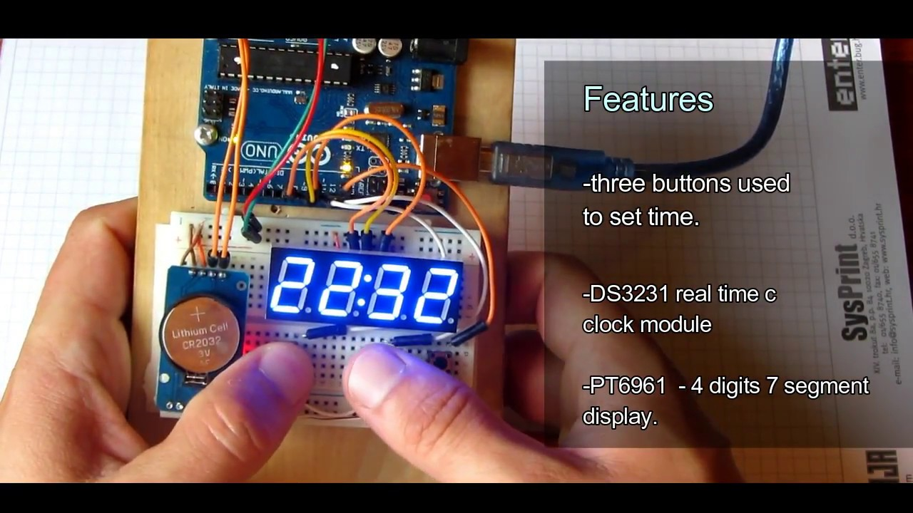 Simple arduino clock DIY