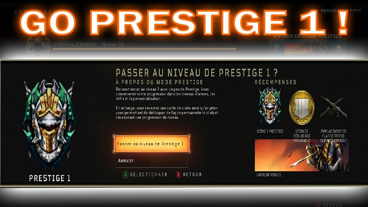 PASSAGE AU PRESTIGE 1 CALL OF DUTY BLACK OPS 4