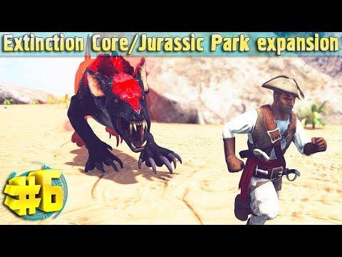 Альфа паразавр и строительные моды #6 Extinction Core и Jurassic Park Expansion
