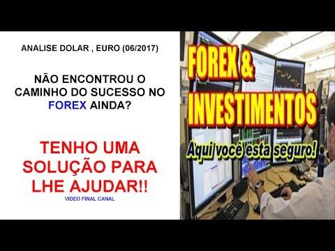 Analise Dólar/Euro  6-2017  FOREX DEFINITIVO Pré Lançamento