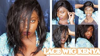 My first wig Brazilian natural straight  lace front wig 14