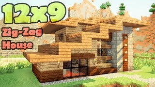 видео: Minecraft 12x9 house - дом дизайнера