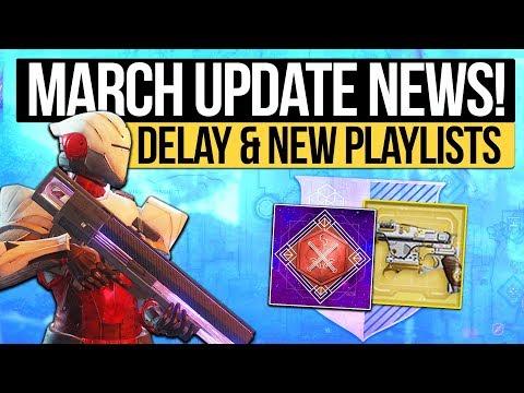 Destiny 2 News | MARCH UPDATE NEWS! - New Playlist Calendar, Modifiers Delayed & Strike Loot Reveal!