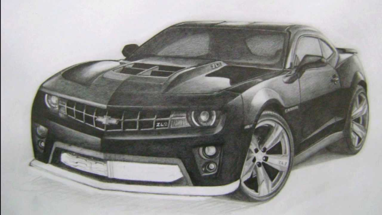 how to draw a chevy camaro car