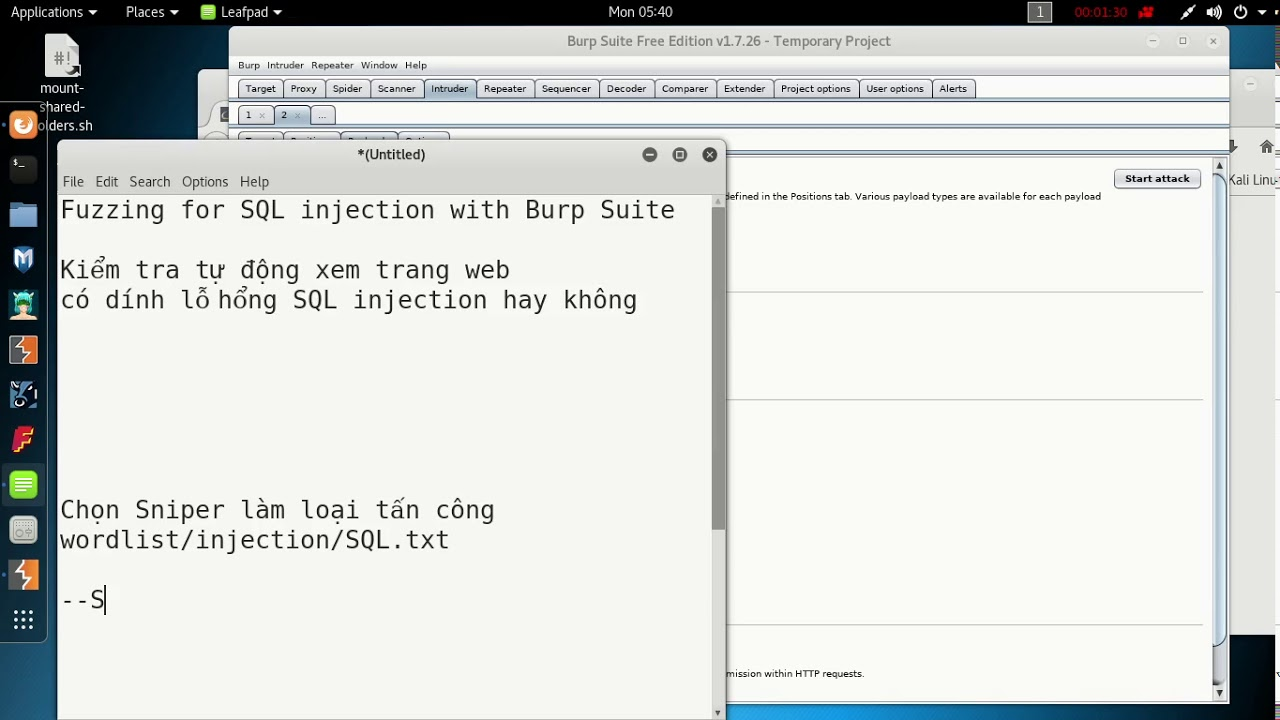 Fuzzing for SQL injection with Burp Suite