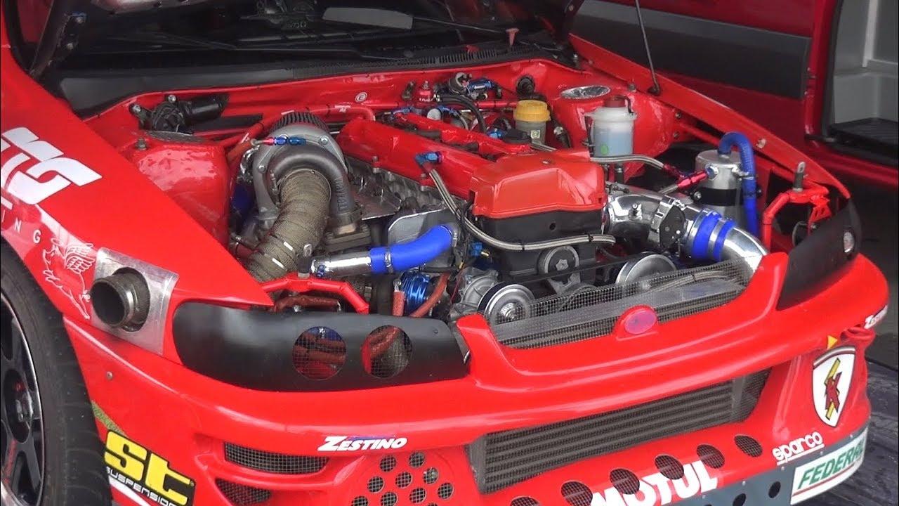 2JZ Engine Swap Subaru Impreza GC8 Drift Car! - First Test on Track +  OnBoard!