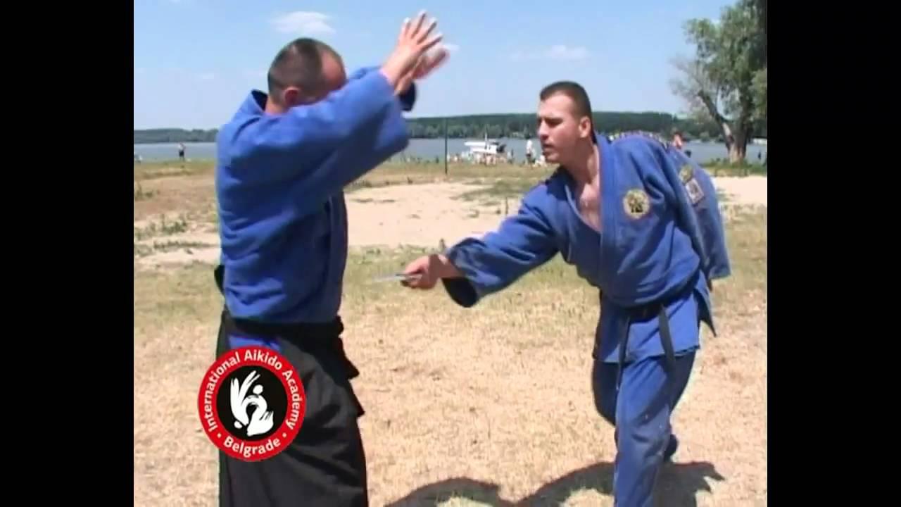 Aikido techniques by Bratislav Stajic: Chudan tsuki kote gaeshi tanto tori