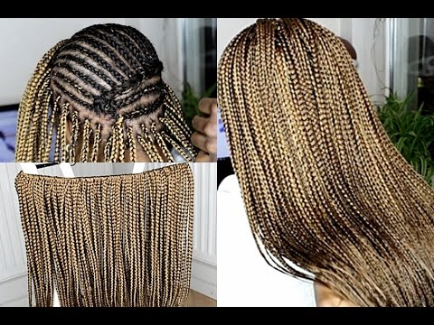 Crochet Box Braids With Leave Out : HOW TO DO CROCHET BOX BRAIDS SMALL - YouTube