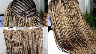how to do crochet box braids   small