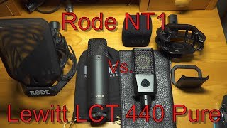 Rode NT1 Vs. Lewitt LCT 440 Pure