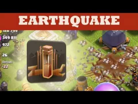 Clash Of Clans - Earthquake Spell Damage To Walls