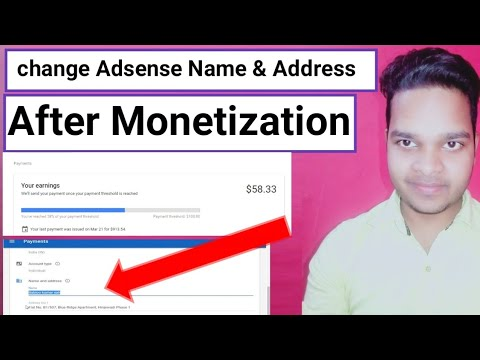 Download How To change Adsense Account Name And Address After YouTube Channel monetization [ Hindi ]