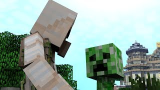 Monster School (Preschool) - Climbing / First Day (Minecraft Animation)