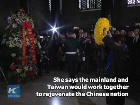 Taiwan KMT leader pays tribute to party founder Sun Yat-sen in mainland