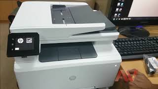 Introduction, How to setup, installing HP Color LaserJet Pro MFP M281fdn printer
