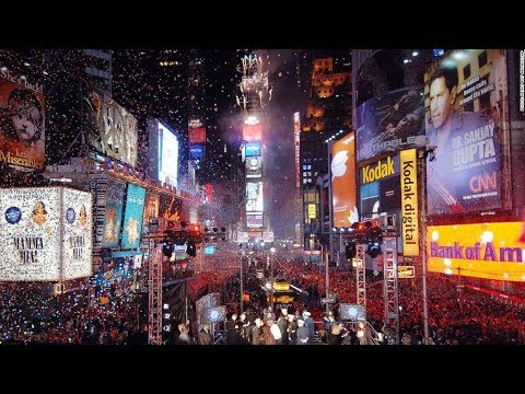 happy new year 2018 times square ball drop countdown 2017 2018 in new york yoyo tv channel