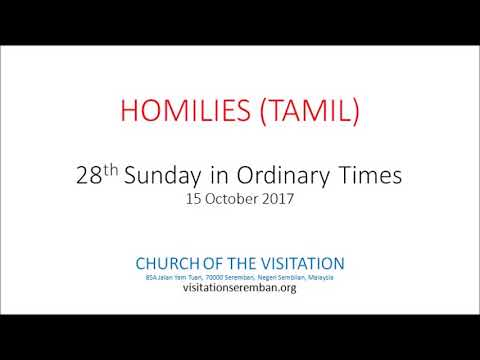 28th Sunday in Ordinary Times - Tamil
