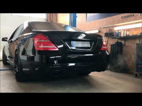 Underground Exhaust Mercedes W221 S500 Stage 3 - Klappenauspuff AMG Sound