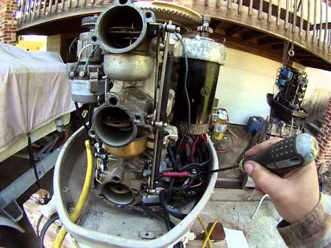 evinrude start up and timing set up april 2014 doovi 1985 mariner motor parts diagram