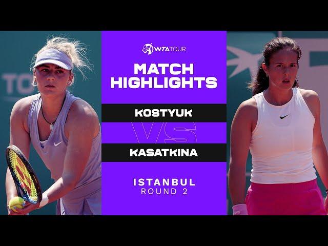 Marta Kostyuk vs. Daria Kasatkina | 2021 Istanbul Round 2 | WTA Match Highlights