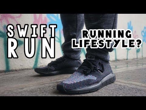 Adidas SWIFT RUN PK TRIPLE BLACK // MOST MINIMAL ADIDAS SNEAKER for 2017
