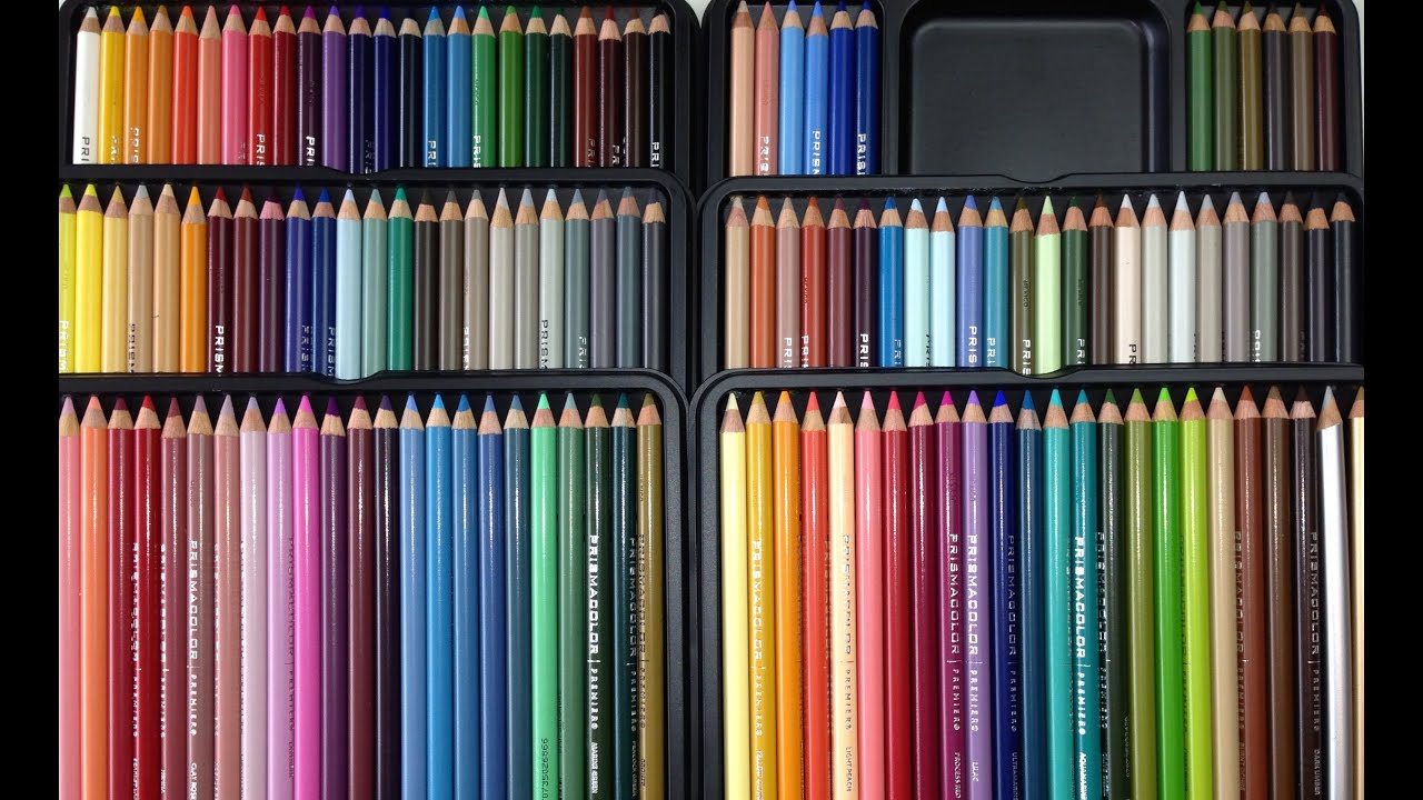 prismacolor pencils 132 tin review unboxing youtube