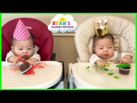 Twin Babies Half Birthday Celebration and Presents Opening Morning! Ryan's Family Review Vlog