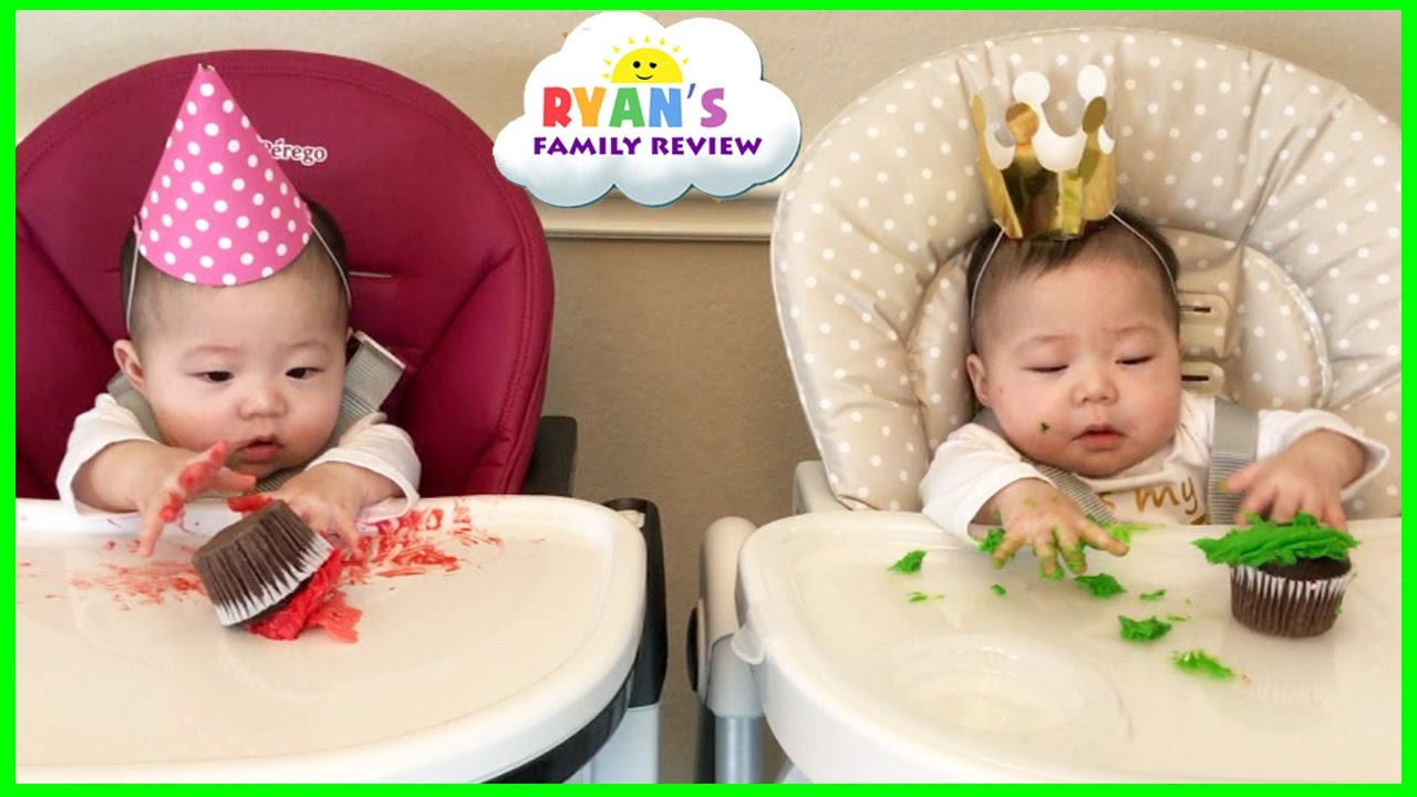 Twin Babies Half Birthday Celebration And Presents Opening Morning