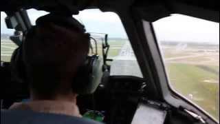 US Air Force C17 landing at JB Charleston -- Air Base, SC