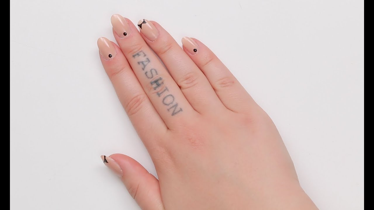 Cool Minimalist Nude Mani Diy Nail Art Tutorial Youtube