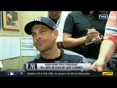 Aaron Boone on CC Sabathia's ejection and Tampa Bay Rays pitchers
